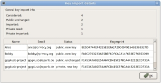gpg4usb 0.3.2 - Details dialog for key import (Linux)